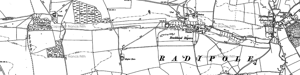 Old map of Langton Cross in 1886