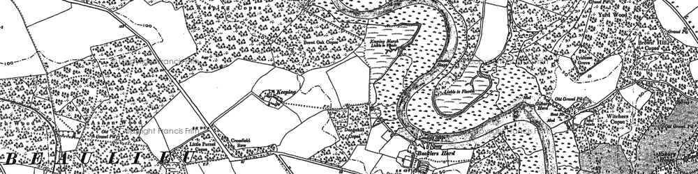 Old map of Ashen Wood in 1895