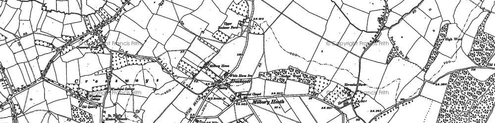 Old map of Baden Hill in 1879