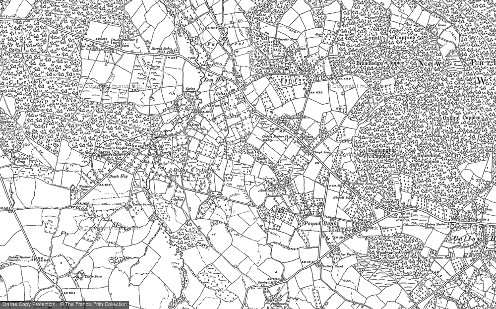 Old Map of Historic Map covering Lem Hill in 1901