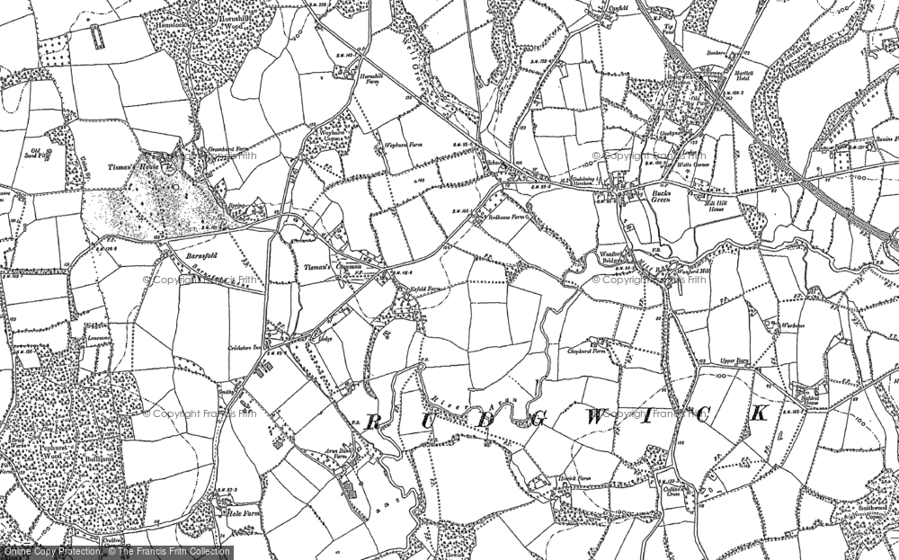 Old Map of Historic Map covering Tisman's in 1896