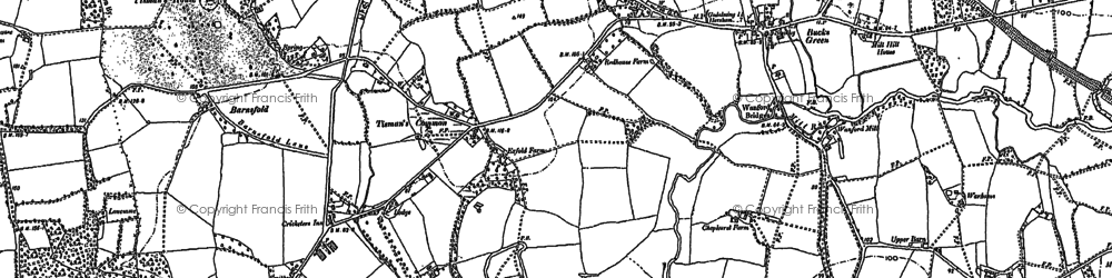 Old map of Tisman's Common in 1896
