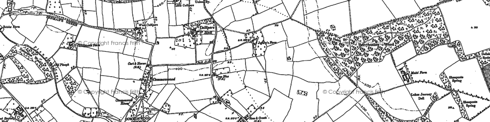 Old map of Commonwood in 1922