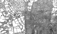 Old Map of Bucks Horn Oak, 1909