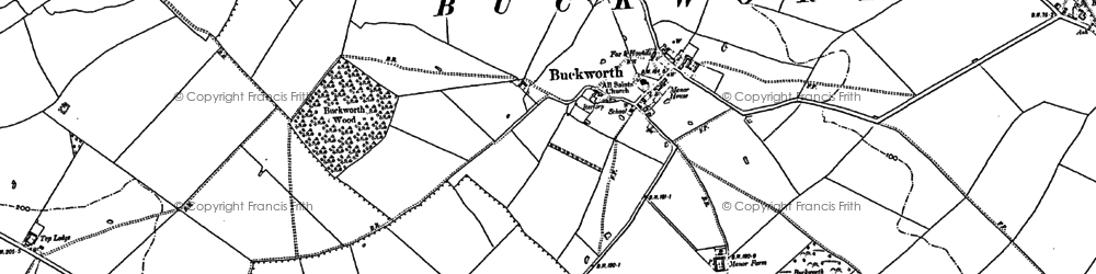 Old map of Buckworth in 1887