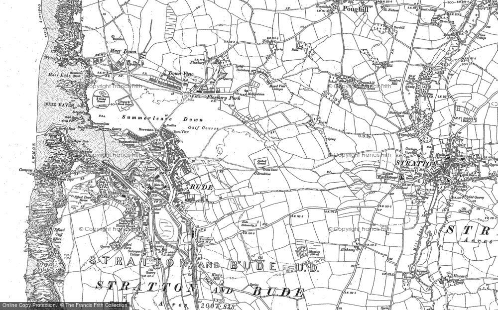 Old Map of Bude, 1884 - 1905 in 1884