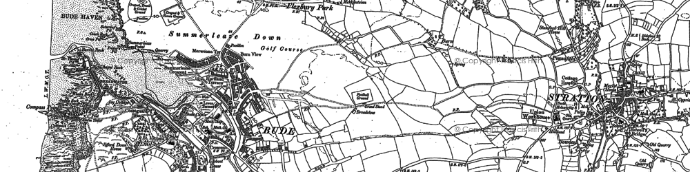 Old map of Maer in 1884