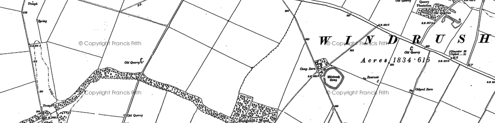Old map of Windrush Camp in 1882