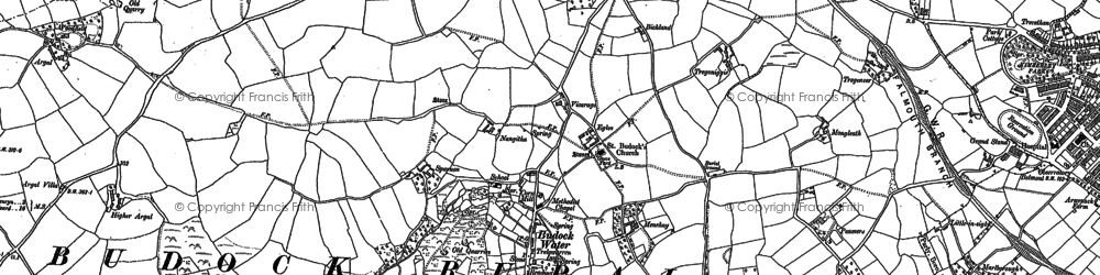 Old map of Mongleath in 1906