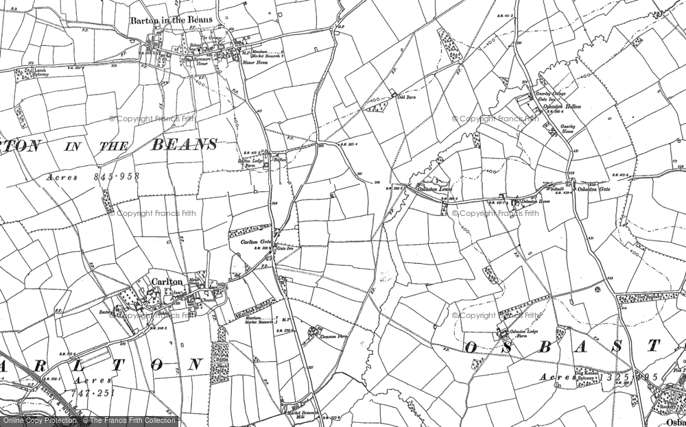Old Map of Bufton, 1885 in 1885