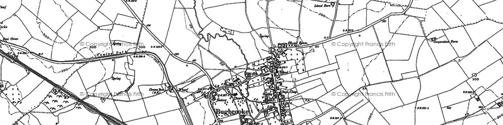 Old map of Bugbrooke in 1883