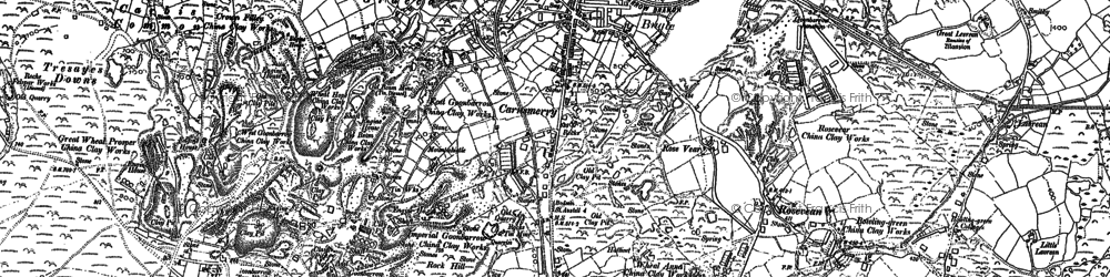 Old map of Carnsmerry in 1881