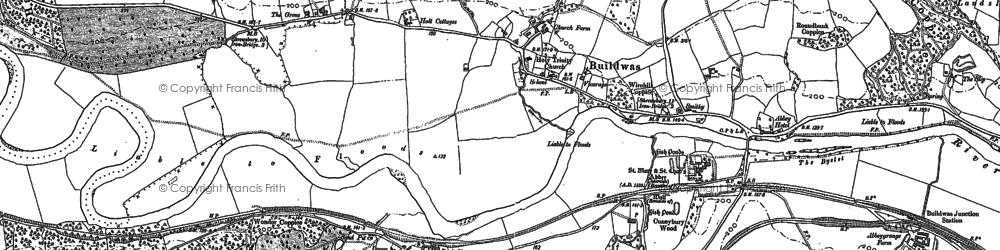 Old map of Buildwas in 1882