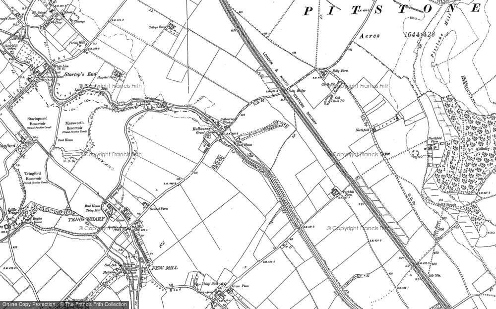 Old Map of Bulbourne, 1896 - 1923 in 1896