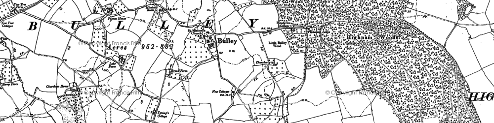 Old map of Woodgreen in 1882