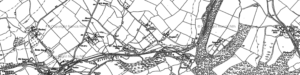 Old map of Lewis Wych in 1902