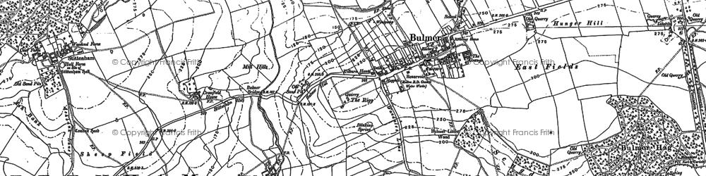 Old map of Bulmer in 1889