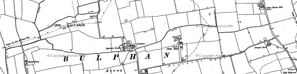 Old map of Bulphan in 1895