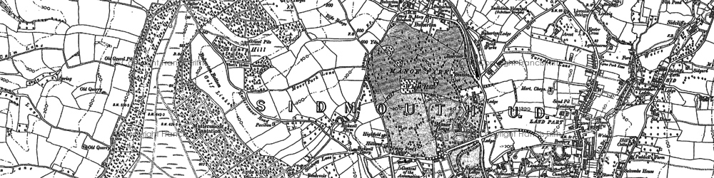 Old map of Wheat Hill in 1888