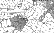 Old Map of Bulwick, 1884 - 1885