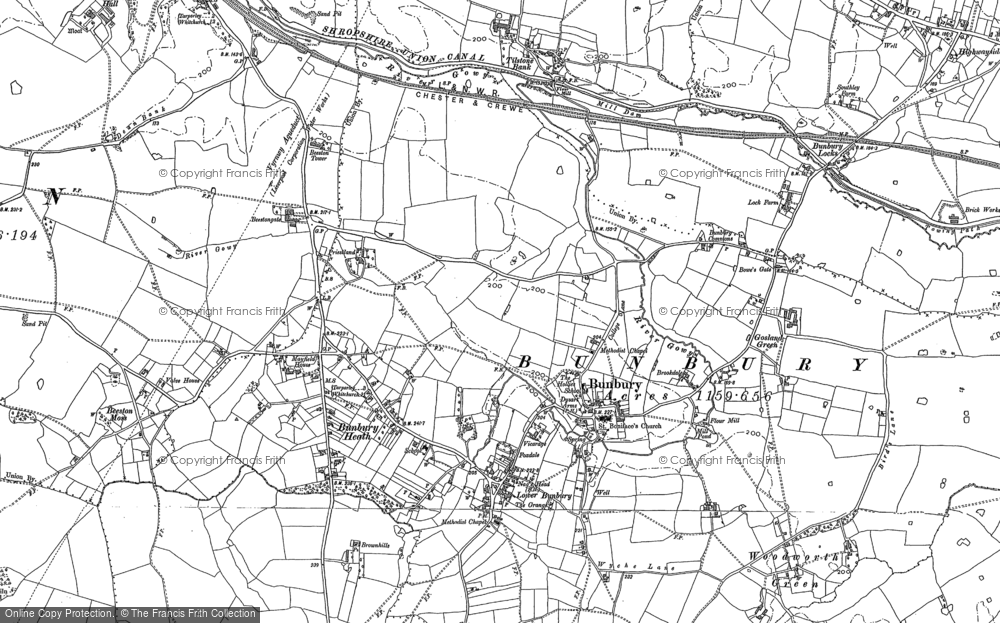 Old Maps of Bunbury Francis Frith