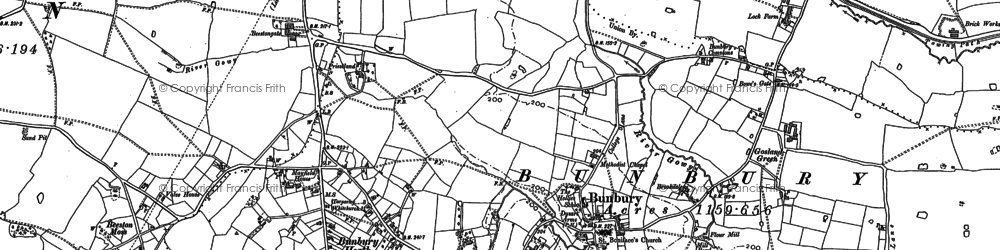 Old map of Woodworth Green in 1897