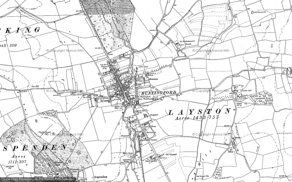 Old Map of Historic Map covering Alswick Hall in 1896