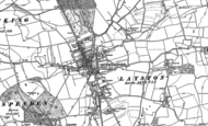 Old Map of Buntingford, 1896
