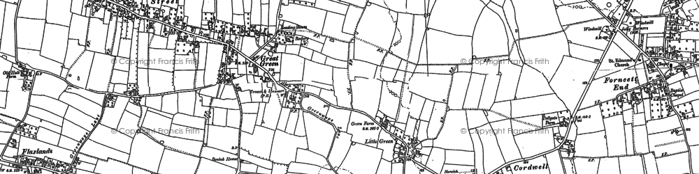 Old map of Banyards Hall in 1882
