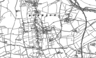 Old Map of Burbage, 1899