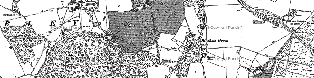 Old map of Applehouse Hill in 1910