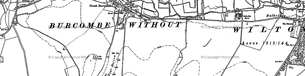 Old map of Windwhistle in 1899