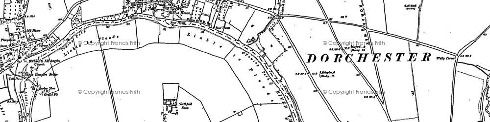 Old map of Burcot in 1897