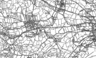 Old Map of Burcott, 1884 - 1886