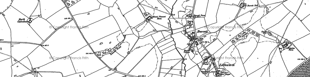 Old map of Burcott in 1923