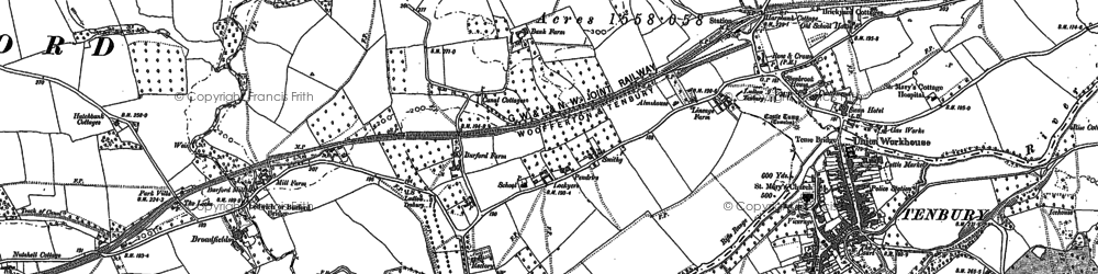 Old map of Ledwich Br in 1902