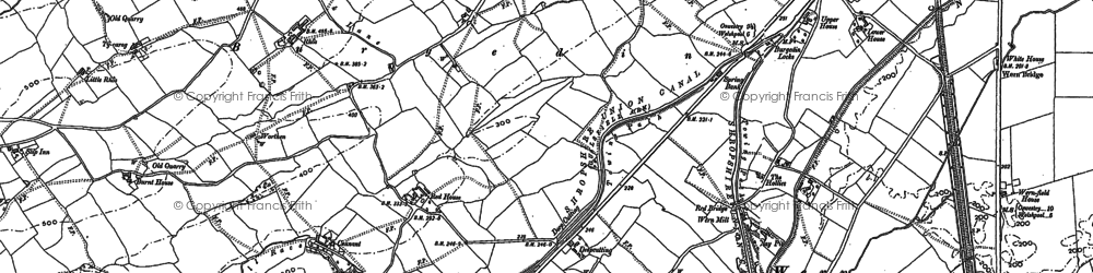 Old map of Burgedin in 1884