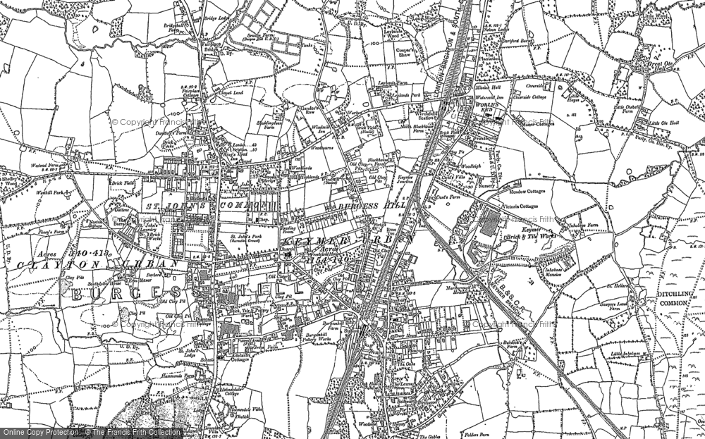 Burgess Hill Map Old Maps of Burgess Hill   Francis Frith Burgess Hill Map