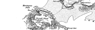 Old map of Burgh Island centred on your home