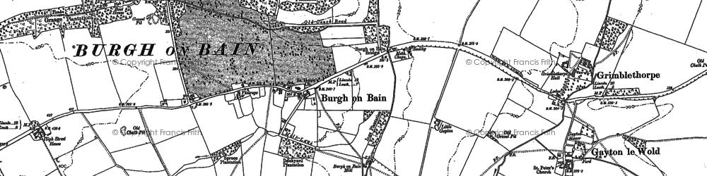 Old map of West Wykeham Village in 1886