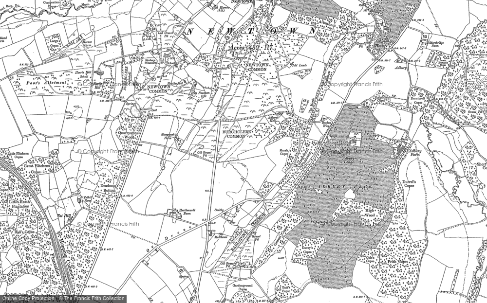 Old Map of Historic Map covering Adbury Park in 1887