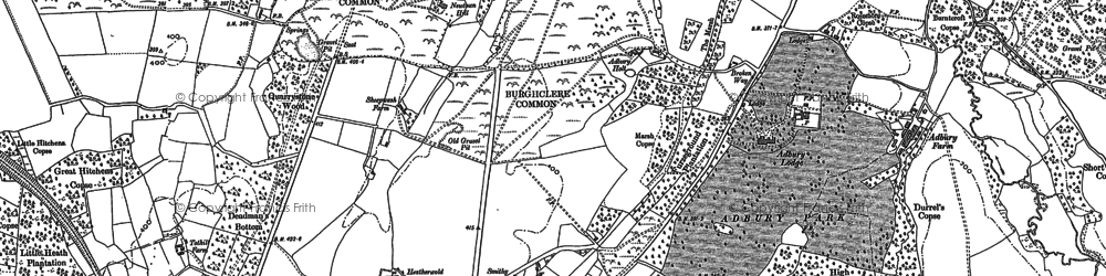 Old map of Adbury Park in 1887