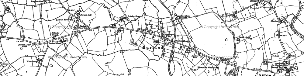 Old map of Whitehaven in 1897