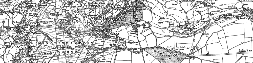 Old map of Burleigh in 1882
