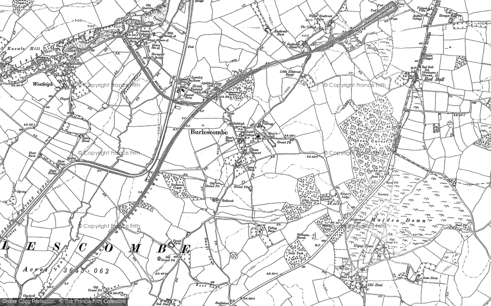 Old Map of Historic Map covering Westleigh in 1903