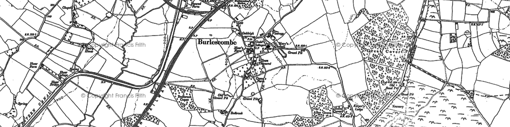 Old map of Westleigh in 1903