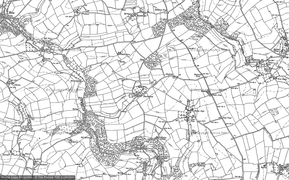 Old Map of Historic Map covering Abbotsleigh in 1904