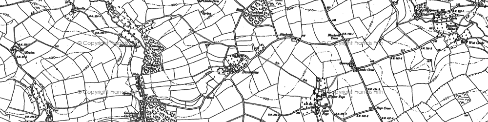 Old map of Abbotsleigh in 1904