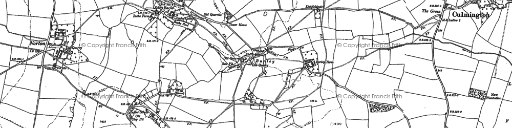 Old map of Langley in 1883