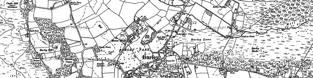 Old map of Burley in 1895
